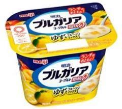 【冷蔵】明治 ブルガリア脂肪0 ゆず&フルーツミックス180g X10個