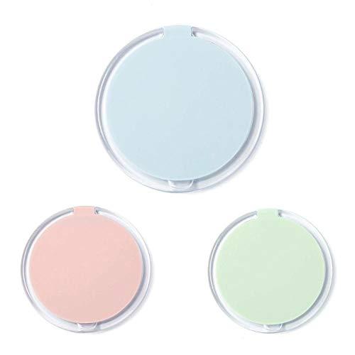 Bmstjk Mini Miroir cosmétique Pliable Portable, Miroir de Maquillage de Bureau Simple Face Couleur Bonbon Compact, pour Maquillage garçon et Fille, Couleur aléatoire9.5X9.5Ccm
