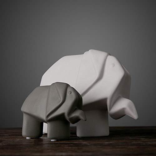 SKHF Estatua Escultura Esculturas Estatuas Adornos Estatuilla Figuras Coleccionables Estatuilla Estatuilla De Animales Adornos Escultura De Cerámica/Elefante De Origami/Adorno Moderno Nórdico para