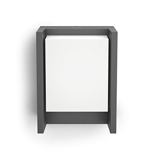 Philips myGarden Arbour - Aplique, iluminación exterior, LED, aluminio, luz blanca fría, IP44, 16,6 x 7,5 x 22,1 cm, color antracita ⭐
