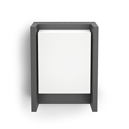 Philips myGarden Arbour - Aplique, iluminación exterior, LED, aluminio, luz blanca fría, IP44, 16,6 x 7,5 x 22,1 cm, color antracita