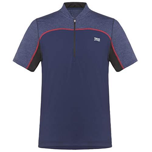 TAO Sportswear Atmungsaktives Herren Funktions Kurzarm T-Shirt mit Zip Zip Shirt mare blu 54