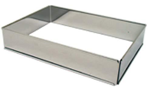Lares - Backform/Backrahmen - aus rostfreiem Edelstahl - eckig, in Karton - verstellbare Größe - Made in Germany