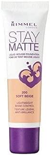 (3 Pack) RIMMEL LONDON Stay Matte Liquid Mousse Foundation - Soft Beige