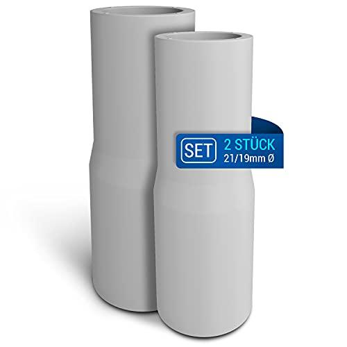 Adaptador de manguera de desagüe, 2 unidades, alargador, adaptador de manguera de desagüe, pieza de conexión universal, diámetro de 21 mm, para lavadora y lavavajillas