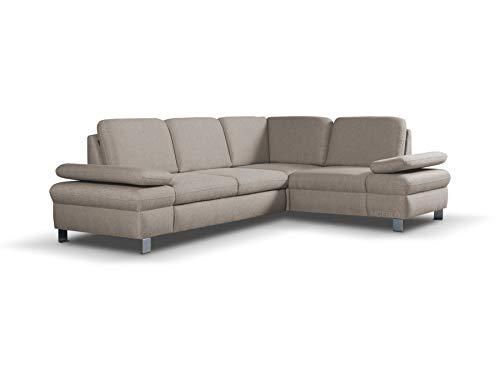 Ecksofa mit Schlaffunktion ohne Bettkasten Sofa Couch L-Form Polstergarnitur Wohnlandschaft Polstersofa mit Ottomane Couchgranitur mit Bettfunktion -...