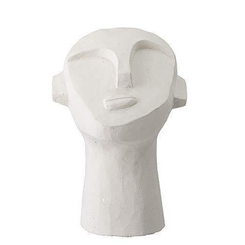 Bloomingville Zierstück, dekorativer Kopf, weiß, ement