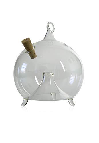 Fliegenfalle zum Stellen und Hängen d 8 cm mundgeblasen handgeformt Lauschaer Glas das Original
