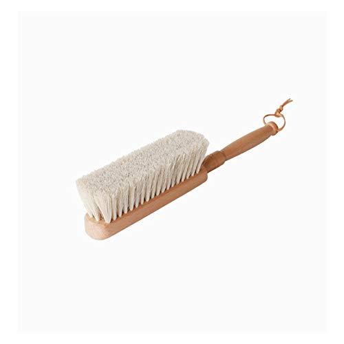 Plumero Atrapapolvo Cabetero de la contraair con el plumero con la manija de madera Broom de la mano con las cerdas suaves del cepillo de polvo natural adecuado para la cama del hotel para el hogar Ro