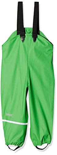 CareTec Kinder Regenlatzhose, wind- und wasserdicht (verschiedene Farben), Einfarbig, Gr. 92, Grün (Grün 974)