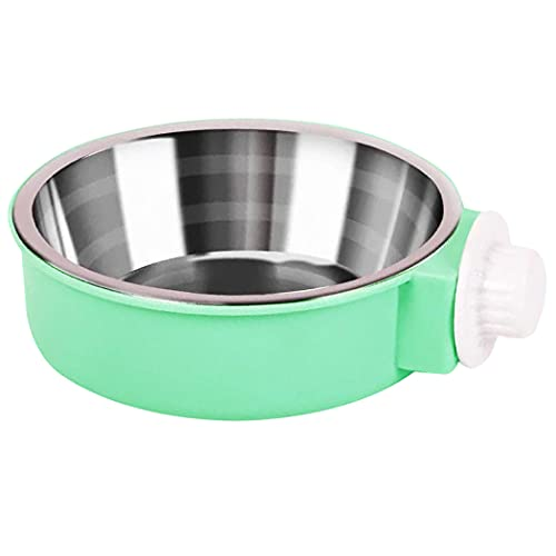Hxiu Removable Crate Dog Bowl Pet Dog Coop Cups, Crate Bowls Puppy Hanging...