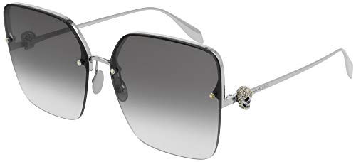Alexander McQueen Gafas de Sol AM0271S Silver/Grey Shaded 63/16/145 mujer