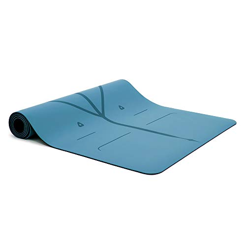 Liforme Yoga Mat Original - The World's Best Eco-Friendly, Non Slip Yoga Mat with The Original Unique Alignment Marker System - Biodegradable Mat Made with Natural Rubber & A Warrior-Like Grip - Blue