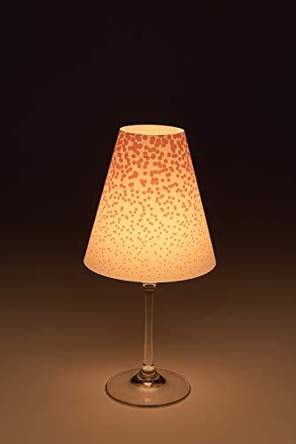 Preisvergleich Produktbild Cuadros Lifestyle Candle Light 'Coleen' 1er / 2er / 3er / 6er-Set Lampenschirm für Weingläser / Deko-Lampenschirm / Lampe / Teelicht / Lampshade / Tischdeko,  Größe:1er-Set