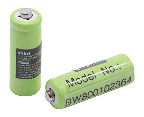 vhbw 2X NiMH Akku 400mAh (1.2V) für schnurlos Telefon, Festnetz Hagenuk Classico iDect X1, X1i, X11 ersetzt 2/3 AAA, GP40AAA, GP40AAAM, GP40AAAMC.