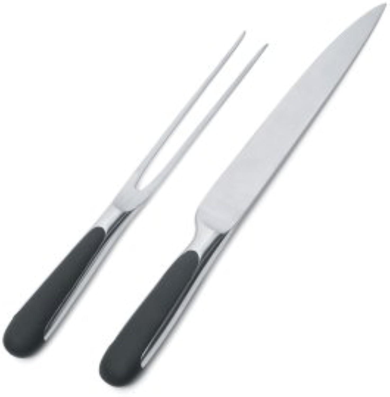 Alessi Mami Fleischmesser + Fleischgabel aus Edelstahl, 2 TLG 2-Einheiten B000XD5RG6