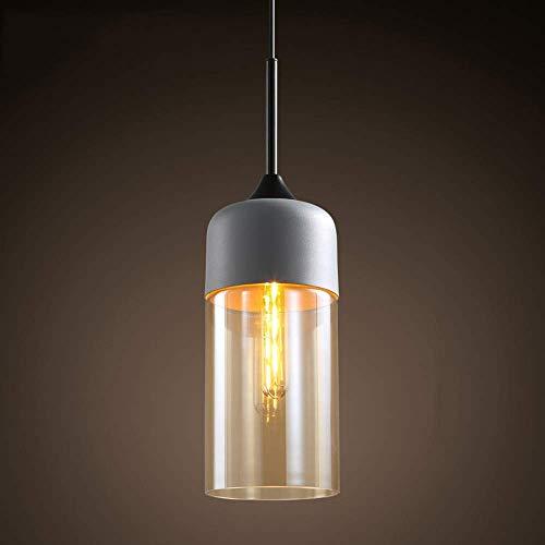LYMHGHJ Kronleuchter Nordic Retro Glas Lampenschirm Decke Pendelleuchte E27 Edison Glühbirne, Metall Schmiedeeisen Hängelampe Leuchte für Restaurant Cafe Schlafzimmer Bar Wohnzimmer Dekoration