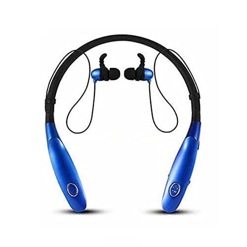 Auriculares Bluetooth, auriculares inalámbricos con sonido de bajo deportivo para correr, con micrófono, apto para iPhone Xiaomi (azul)