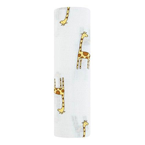 aden by aden by aden + anais 100% Cotton Muslin Swaddle Jungle Jam - Giraffe 120 x 120 cm Single