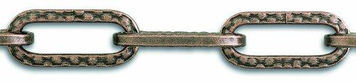 Chapuis LVBL10 Cadena para lámpara - Alambre de acero repujado con acabado de bronce - 8 kg - Diámetro 2 mm - Largo 1,5 m