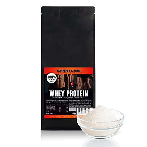 Whey Protein 1 kg | WPC 80 Whey Protein | reines Molkenprotein | ohne Zusätze | Sportsline by Golden Peanut