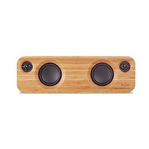 House of Marley Get Together Mini, tragbare Bluetooth Box, 2,5 Zoll Subwoofer & 1' Hochtöner, 10 Std. Akkulaufzeit, Aux-In, Laden per USB, Lautsprecher Telefonie für iPhone, iPad, Samsung etc, black