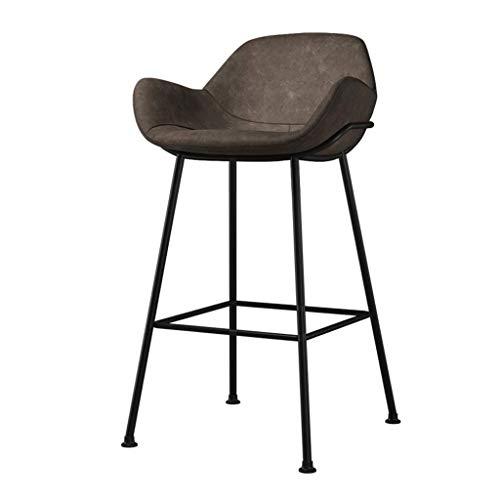 Taburetes de bar Sillas Atractivo Acabado de Madera Contrachapada Forma Estilo Elegante Apariencia Ampliar Cuero Diseño Moderno Versátil Uso Clásico Casa de Café Seat Height:65cm gris oscuro