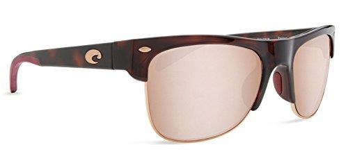 Costa Del Mar Men s Pawleys Sunglasses, Rose Tortoise Copper Silver MIrror-580P, 56 mm