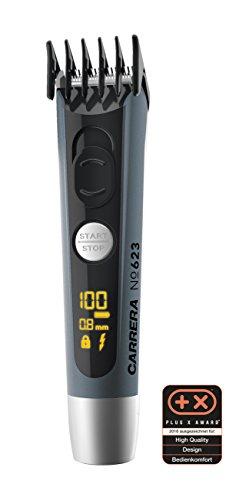 CARRERA Bartschneider Barttrimmer No 623 | 4-14 mm Aufsatz | Li-Ion Akku USB-Ladeoption | Edelstahl Schneidsatz