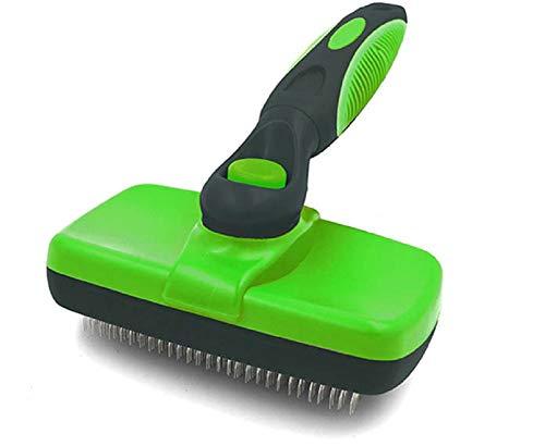 ZXLLAFT Reinigung Slicker Brush Shedding Pflegewerkzeug für Hunde Katze und Haustiere Shedding Pflegewerkzeuge für Hunde und Katzen mit mittlerem bis langem Haar,Grün