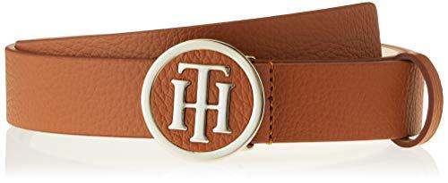 Tommy Hilfiger TH Round Belt 3.0 Cinturón, Verde (Dark Tan 265), 100 (Talla del fabricante: 85) para Mujer