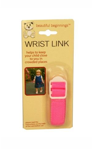 Pink Adjustable Wrist Link Safety Rein Restraint Toddler Walking Various Colours 81cm