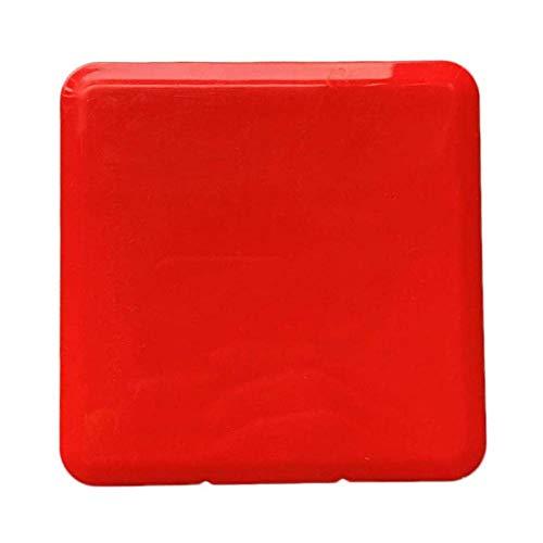 Beuya Mini Cajas para Mascaras, Bolsa portátil de Almacenamiento de Mascarillas Mask Case, Cajas de Almacenamiento para Máscara Desechable (Rojo)