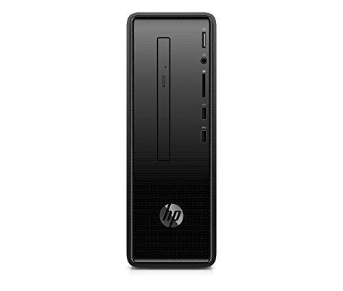 HP Slimline (290-a0005ng) Desktop PC (AMD A9-9425, 8GB DDR4 RAM, 256GB SSD, AMD Radeon R5, Windows 10) schwarz