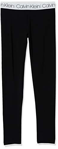 Calvin Klein Big Girl's Performance Leggings, S20 Logo Tape Black, S7