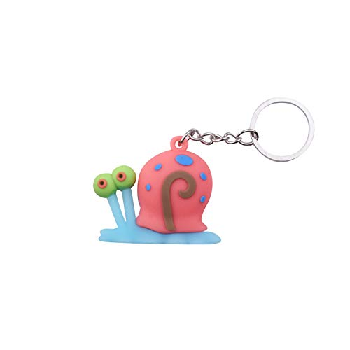 Luntus Cute Cartoon Anime Snail Keychain Spongebob Silicone Keyring Women Gift Porte Clef Minne Key Charm