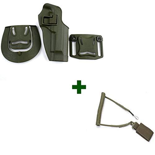 NO LOGO X-Baofu, Military Combat Gun Beinholster Waffenkoffer Tactical Right Thigh Leg for Beretta 92/96 / M9 Pistole Mit Magazintasche (Farbe : Combination 3)