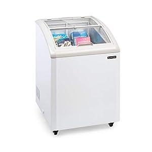 congelador con tapa deslizante de cristal, 133 litros, nevera baúl ...