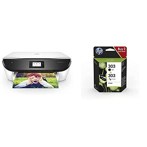 Hp Envy Photo 6234 - Impresora Multifunción Tinta, Color, Wi-Fi + 303Xl 3Yn10Ae Negro Y Tricolor, Cartuchos De Tinta De Alta Capacidad Originales, Pack De 2