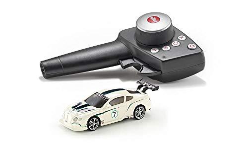 SIKU 6827, Bentley Continental GT3, Ferngesteuertes Spielzeugauto, 1:43, Weiß/Schwarz, Metall/Kunststoff, Inkl. Fernsteuermodul und Akku