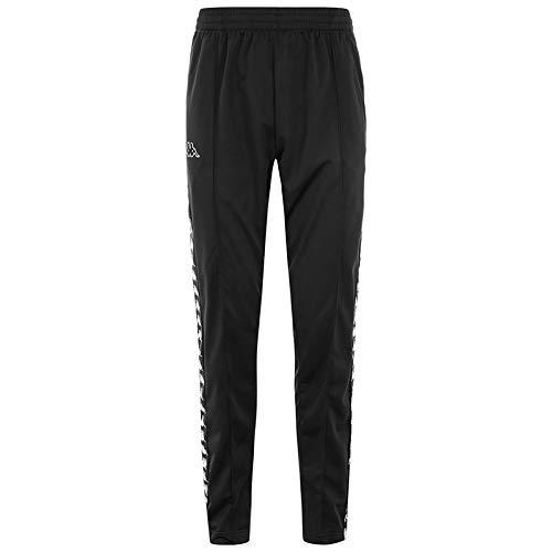 Kappa Astoria Slim Popper Pantalones Deportivos, Negro, Large para Hombre