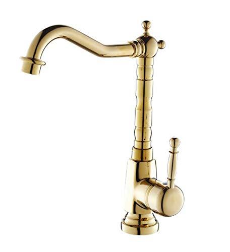 QXHELI Gold Faucet Sinks spelen een plant potten wasbakken wastafels wastafels met kunsten van koude & warm water kraan