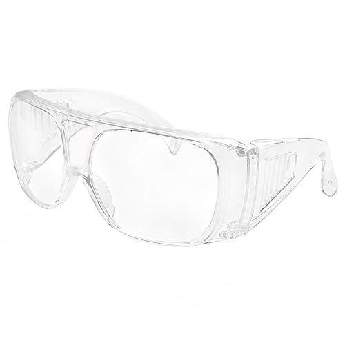VJGOAL Unisexo Gafas de protección laboratorio A prueba de viento al aire libre A prueba de polvo A prueba de arena A prueba de salpicaduras Impacto Transparente Gafas protectoras multifuncionales