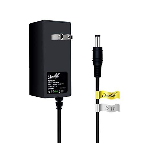 Omilik 6ft 12V AC to DC Adapter fit X Rocker Gaming Chair Power Cord Compatible with X Rocker Pro Series H3 51259 Video Gaming Chair 51231,51396 Replacement Switching Power Supply Cord Charger