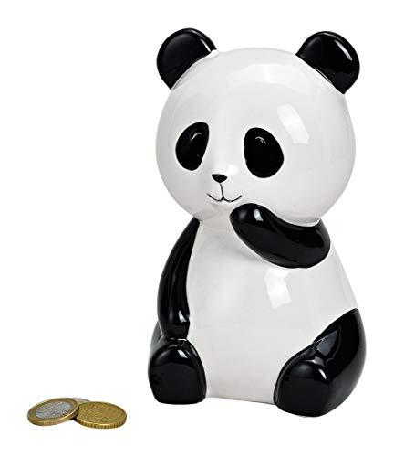 MC Trend Spardose Panda Bär aus Keramik Sparschwein-Büchse Geld-Geschenk Deko ca.10x15x10 cm