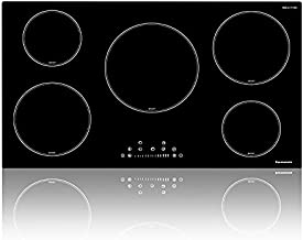 Electric Cooktop, thermomate 36 Inch Built-in Induction Stove Top, 240V Electric Smoothtop with 5 Boost Burner, 9 Heating Level, Timer, Kid Safety Lock, Keep Warm Function, Dual ETL & FCC Certificated