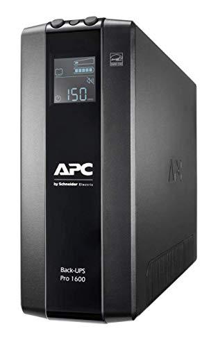 APC by Schneider Electric Back UPS PRO - BR1600MI - Onduleur 1600VA (8 prises IEC, Interface LCD, Protection des lignes de données 1 Go)