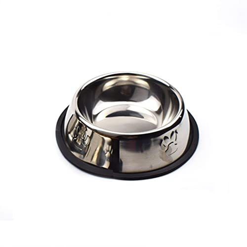 LLK Stainless Steel Dog Cat Bowl Non-slip Feeding Bowls Foot print Water Feeder Outdoor Travel Food Dish For Dogs Puppy Cat Products