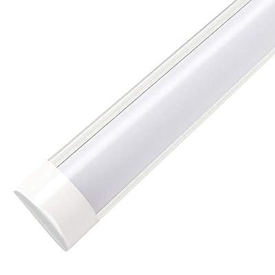 3FT LED Tube Light, LED Shop Light 45W 6000-6500K (Daylight White) 180° Beam Angle 3000LM LED Batten Light Flushmount Ceiling Lighting for Home Basement Garage Warehouse Office Market Hospital