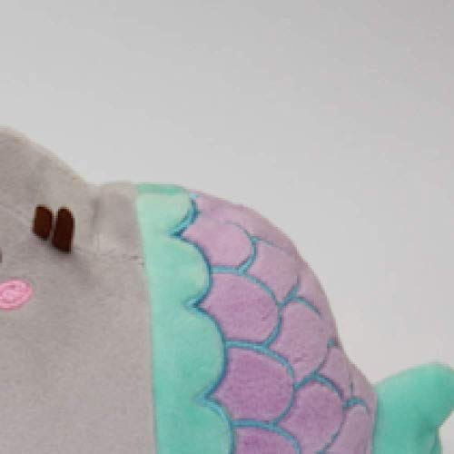 wwwl Jouet en Peluche 18cm Cute Plush Toy Animal Smile Fat Cat Mini Mermaid Stuffed Plush Doll for Children Kids Birthday Best Gift 25X18cm Pink
